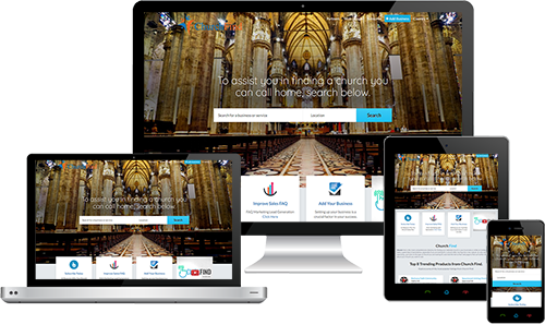 Church Find displayed beautifully on multiple devices