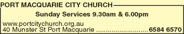 Port Macquarie City Church - Church Find